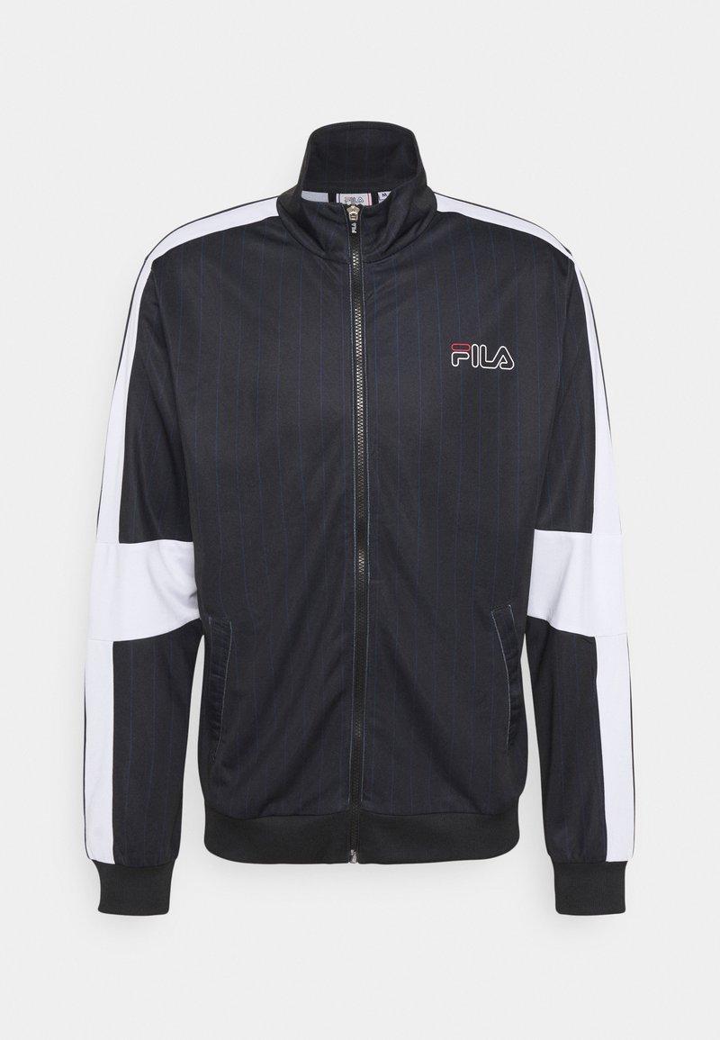 Fila - JAMESON STRIPED TRACK JACKET - Giacca sportiva - black/bright white