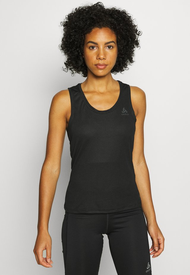 CREW NECK SINGLET ACTIVE F-DRY - Undertrøjer - black