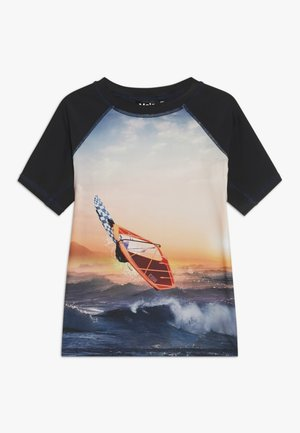 NEPTUNE - Rash vest - black/multi-coloured