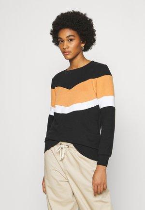ONLDAKOTA JALENE O NECK - Sweatshirt - black/hazel/bright white