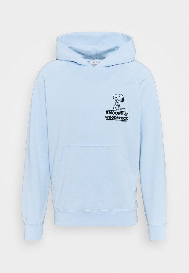 HOODIE SNOOPY CARES UNISEX - Sweatshirt - bleu ciel
