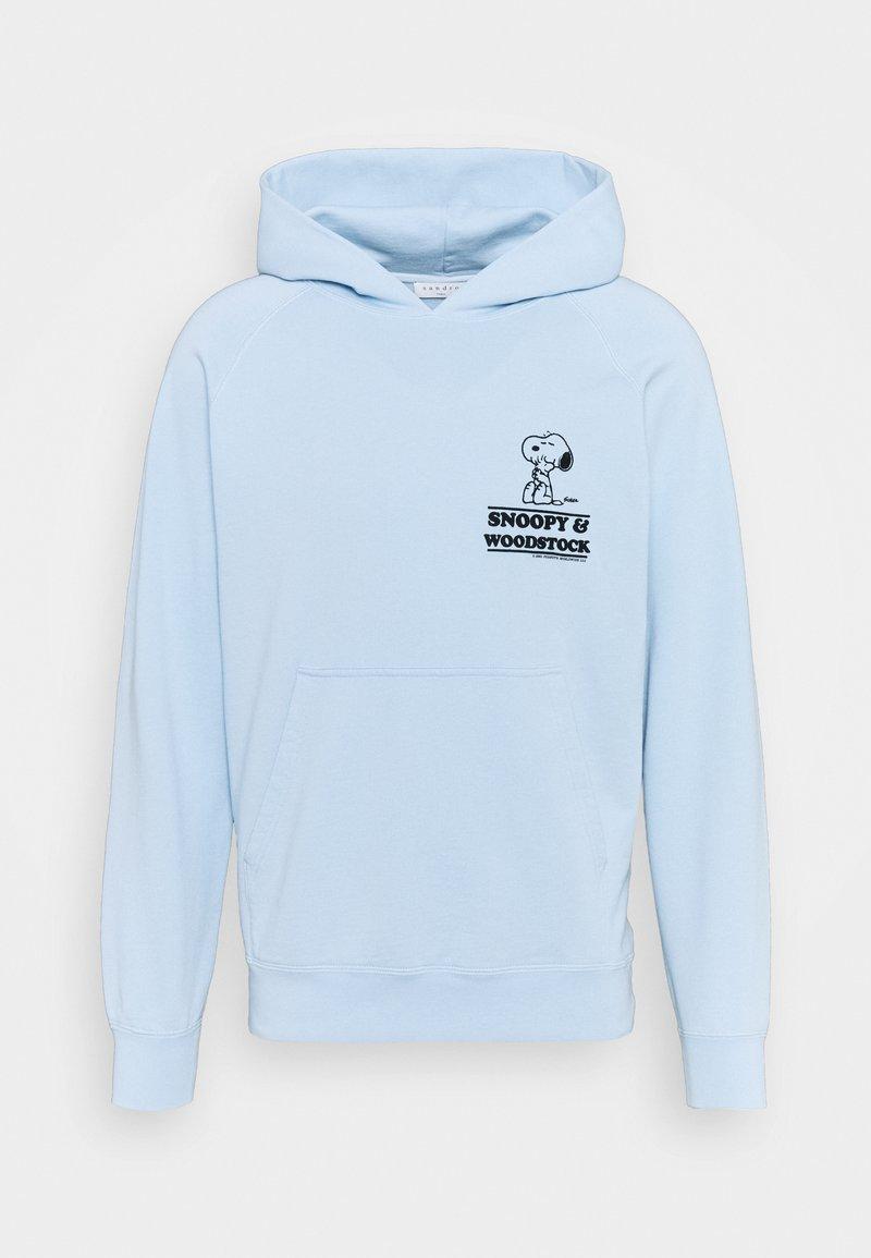 sandro - HOODIE SNOOPY CARES UNISEX - Sweatshirt - bleu ciel