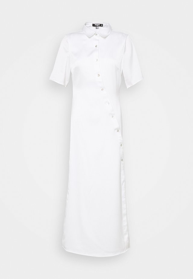 SHAPED PLACKET DRESS - Shirt dress - white