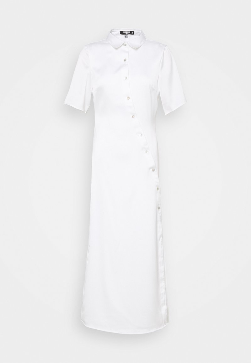 Missguided Tall - SHAPED PLACKET DRESS - Blousejurk - white