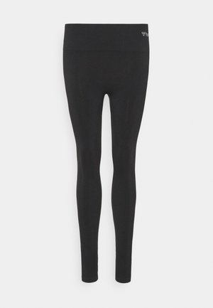 SEAMLESS HIGH WAIST  - Tights - black
