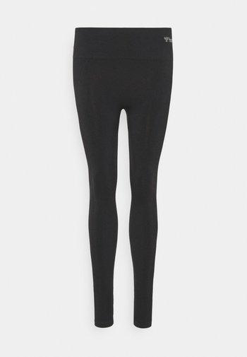 SEAMLESS HIGH WAIST  - Leggings - black