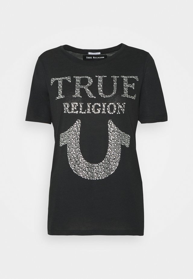 CREW NECK - T-shirt med print - black