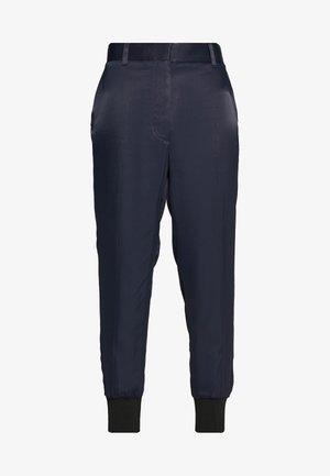 SATIN JOGGER - Trousers - midnight