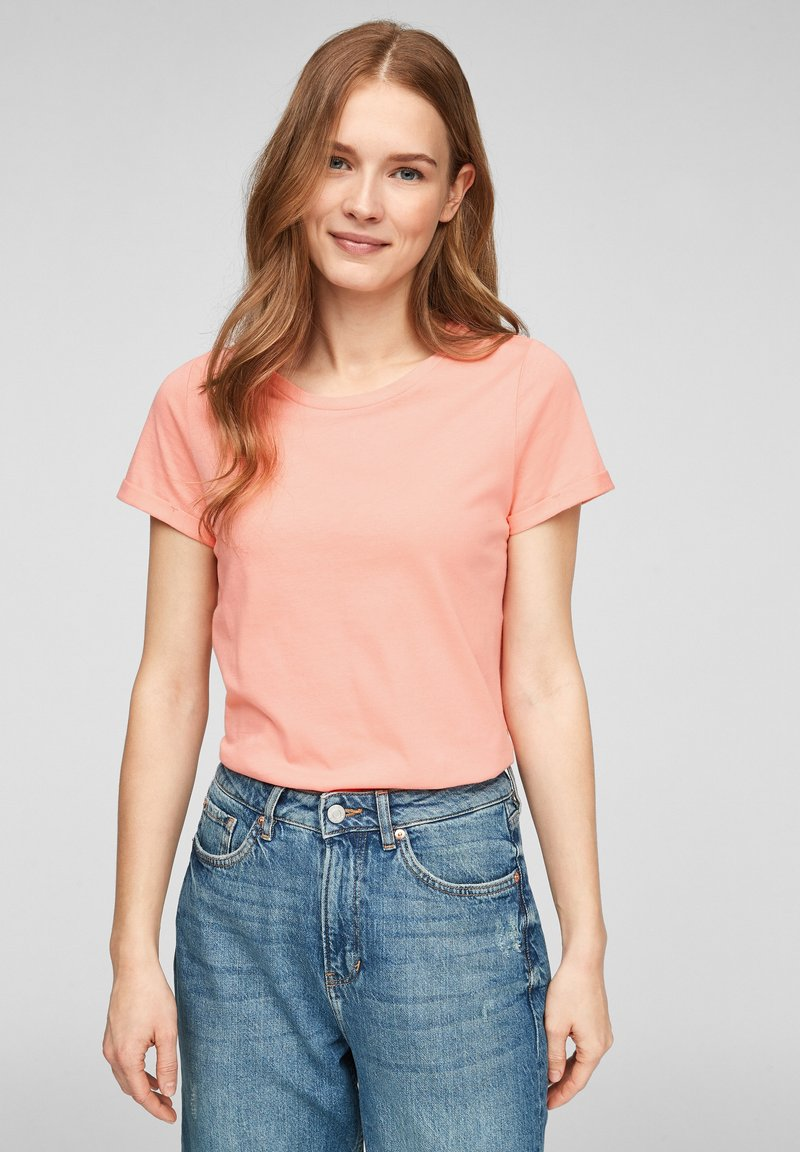 Q/S designed by - Basic T-shirt - apricot
