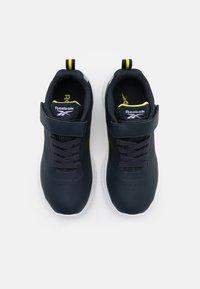 Reebok - RUSH RUNNER 3.0 UNISEX - Neutral running shoes - colegiate navy/bright yellow/silver metallic - 3