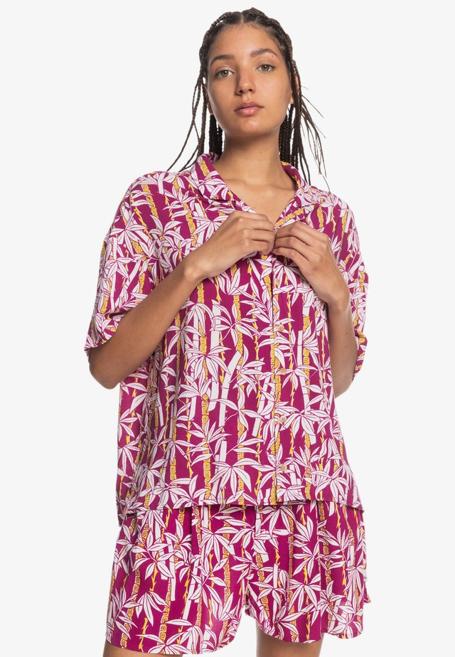 SUNNY RIDE  - Button-down blouse - rasperry radiance jungle fever