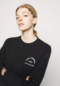 KARL LAGERFELD - ADDRESS LOGO - Sweatshirt - black - 3