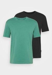 2 PACK UNISEX - Basic T-shirt - black/green