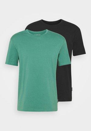 2 PACK UNISEX - T-shirt basic - black/green
