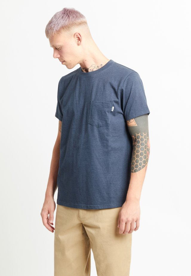 T-shirt basic - navy blue melange