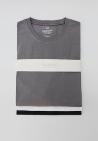 PULL&BEAR - 3 PACK - T-shirt - bas - white - 6