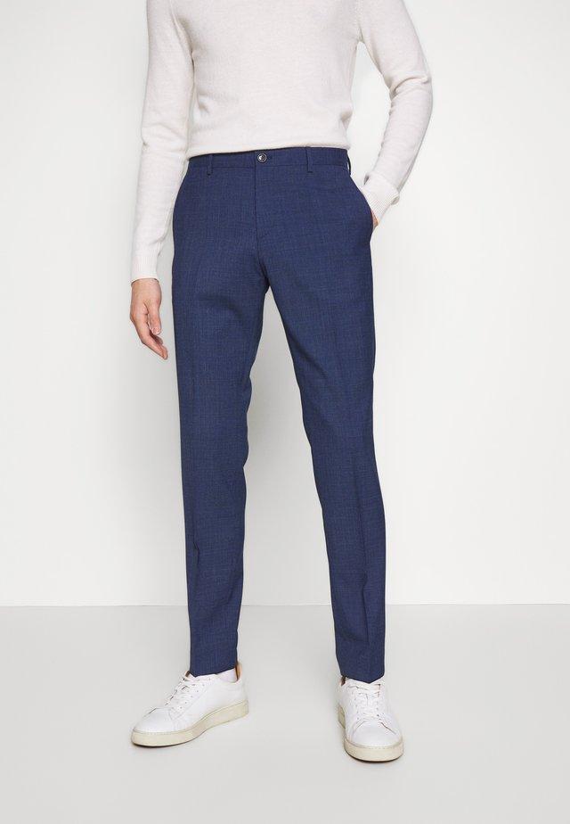 MINI HOUNDSTOOTH SLIM FIT PANT - Pantalon classique - blue