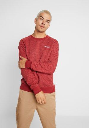 JORHIDE CREW NECK - Sweatshirt - brick red