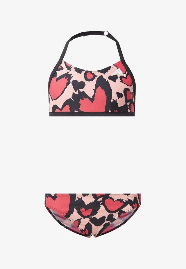 GIRLS HEART GRAPHIC BIKINI - Bikini - pink