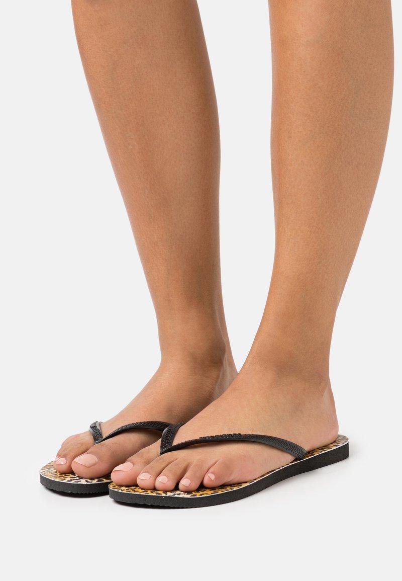 Havaianas - SLIM FIT LEOPARD - Infradito - black