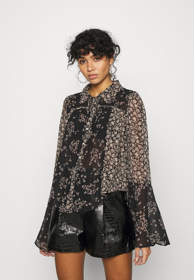SERENA PRINTED BLOUSE - Button-down blouse - black combo