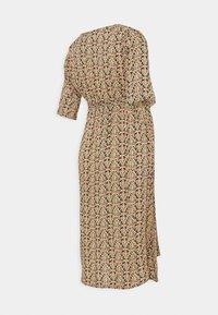 MAMALICIOUS - NURSING DRESS - Vestido informal - black/colored leafs - 1