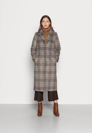 CHECKED - Classic coat - art grey