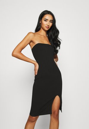 TUBE MINI DRESS - Vestito di maglina - black