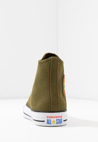 Converse - CHUCK TAYLOR ALL STAR RETROGRADE - High-top trainers - surplus olive/habanero red - 5