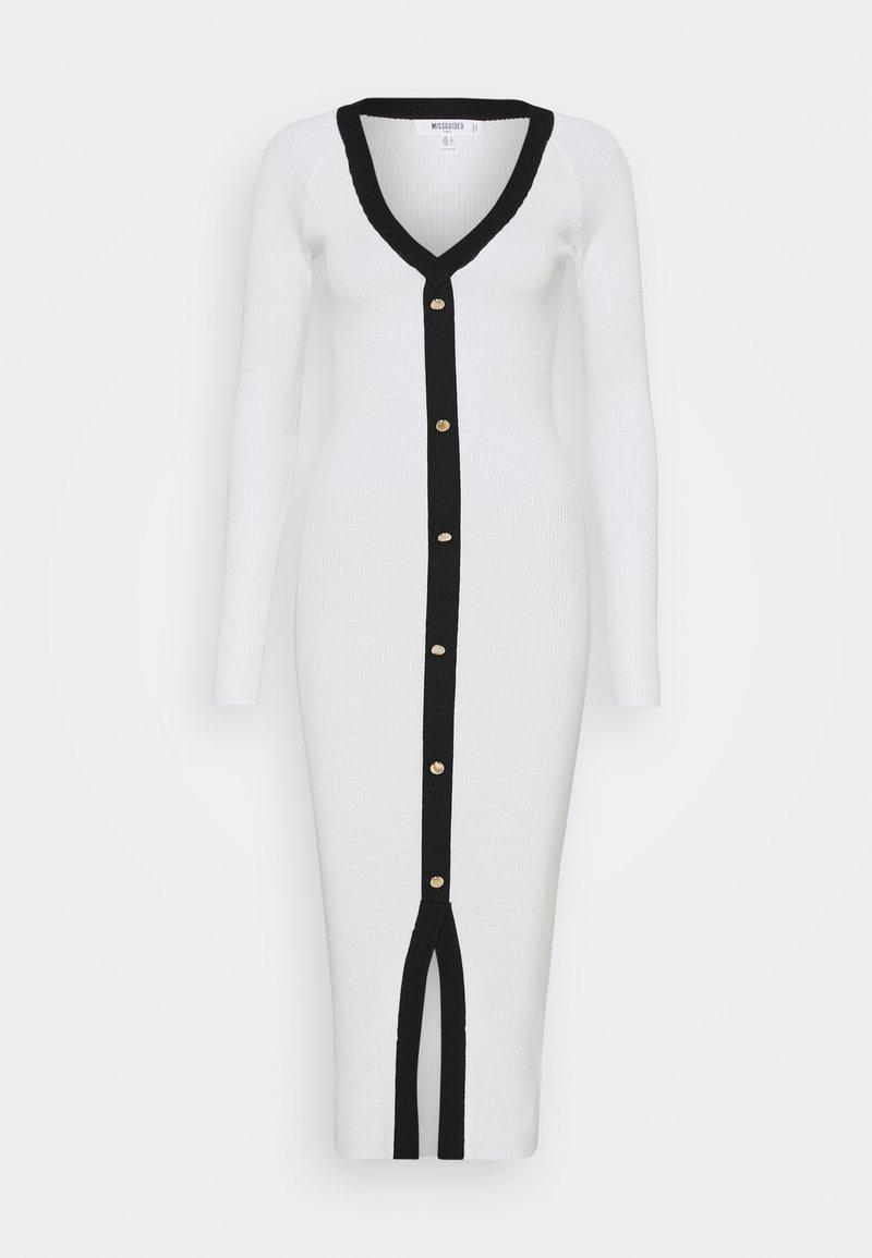 Missguided Tall - BUTTON THROUGH CARDI DRESS - Jumper dress - cream