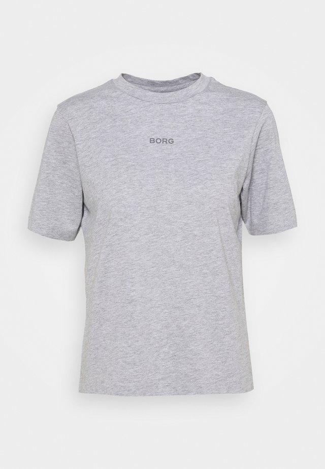 LOGO REGULAR - T-shirts - light grey melange