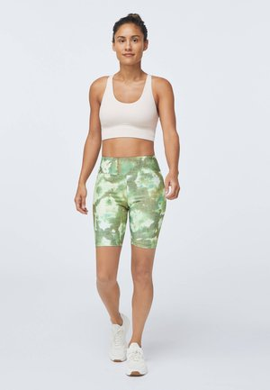 TIE-DYE CYCLE - Leggings - evergreen