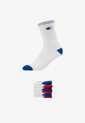 6 PACK CREW PERFORMANCE - Socks - white/blue/red