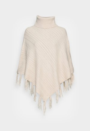 VIPOLLY CABLE PONCHO - Poncho - birch