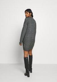 Zign Petite - Gebreide jurk - dark grey melange - 2