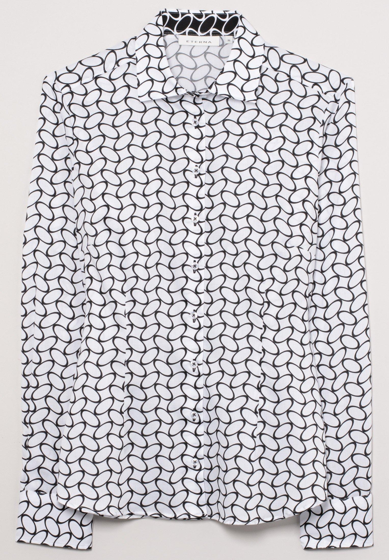 Eterna FITTED WAIST - Overhemdblouse - weiß/schwarz - Dameskleding Origineel