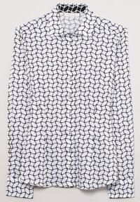 Eterna - FITTED WAIST - Button-down blouse - weiß/schwarz - 4