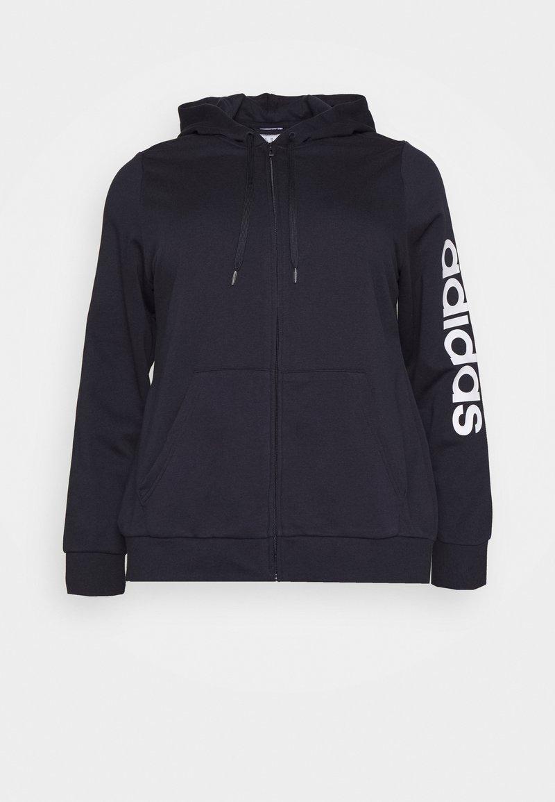 adidas Performance - Zip-up hoodie - dark blue