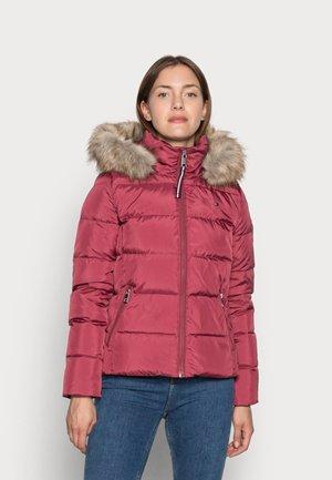 BAFFLE DOWN BOXY  - Down jacket - misty red