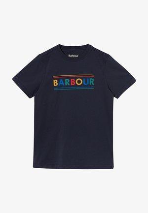 BOYS MULTI LOGO TEE - Print T-shirt - navy