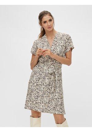 OBJHESSA BIRDY DRESS - Day dress - sandshell