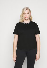 Calvin Klein Jeans Plus - PLUS LOGO TRIM TEE - Print T-shirt - black - 0