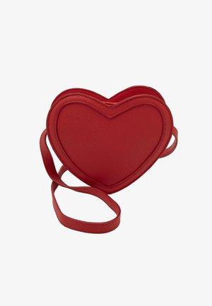 HEART BAG - Taška spříčným popruhem - heart