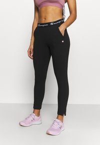Champion - SLIM PANTS - Pantalones deportivos - black - 0
