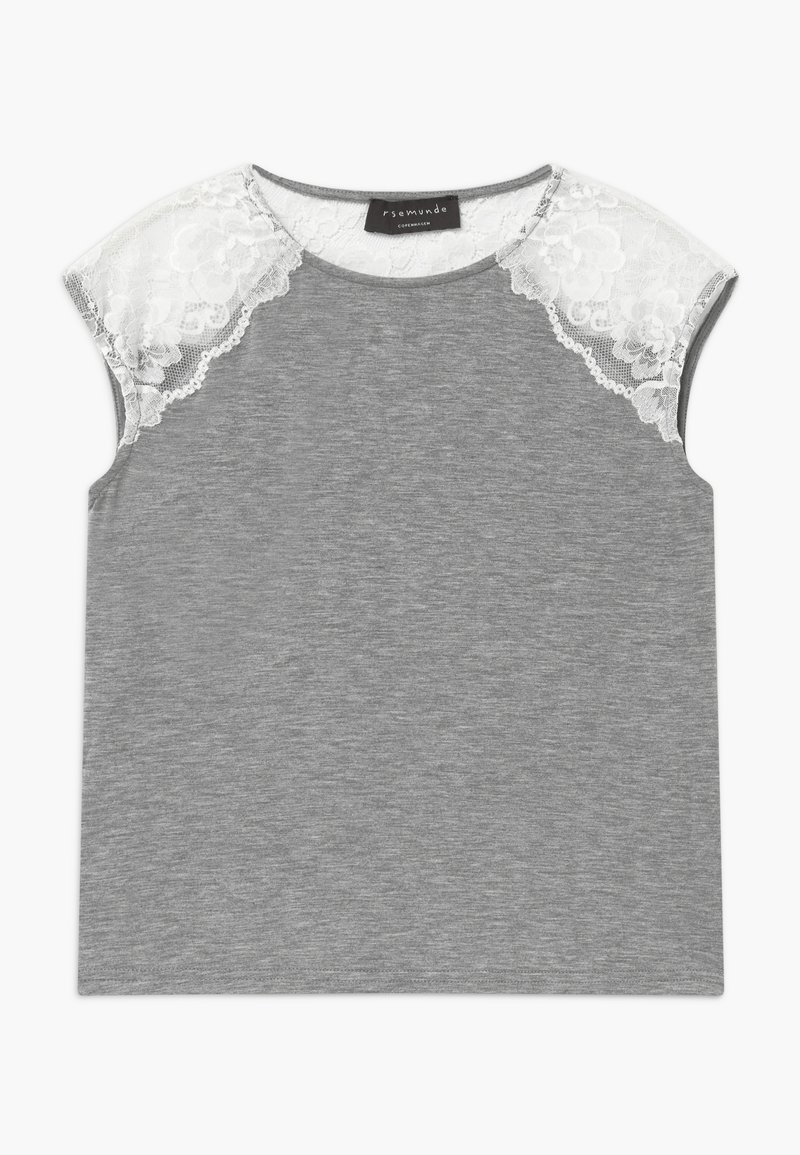 Rosemunde - BERLIN - Print T-shirt - light grey