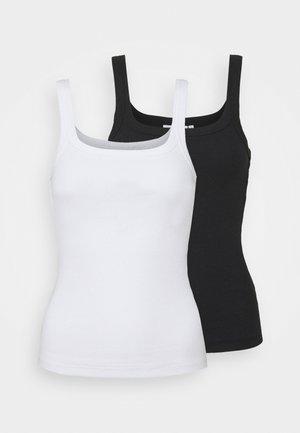 CAT TANK 2 PACK - Top - black/white