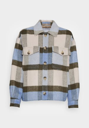 SLFREMI CHECKSHIRT JACKET - Summer jacket - brunnera blue
