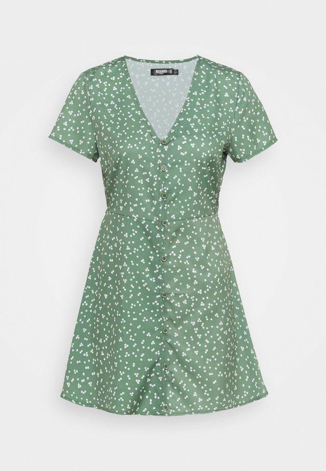 BUTTON THROUGH TEA DRESS DITSY - Vestito estivo - green