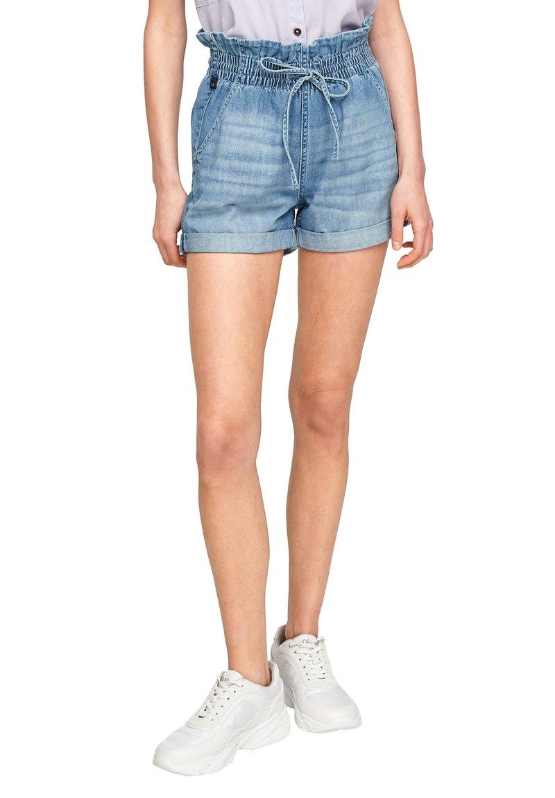 Q/S designed by - REGULAR FIT - Jeansshort - medium blue