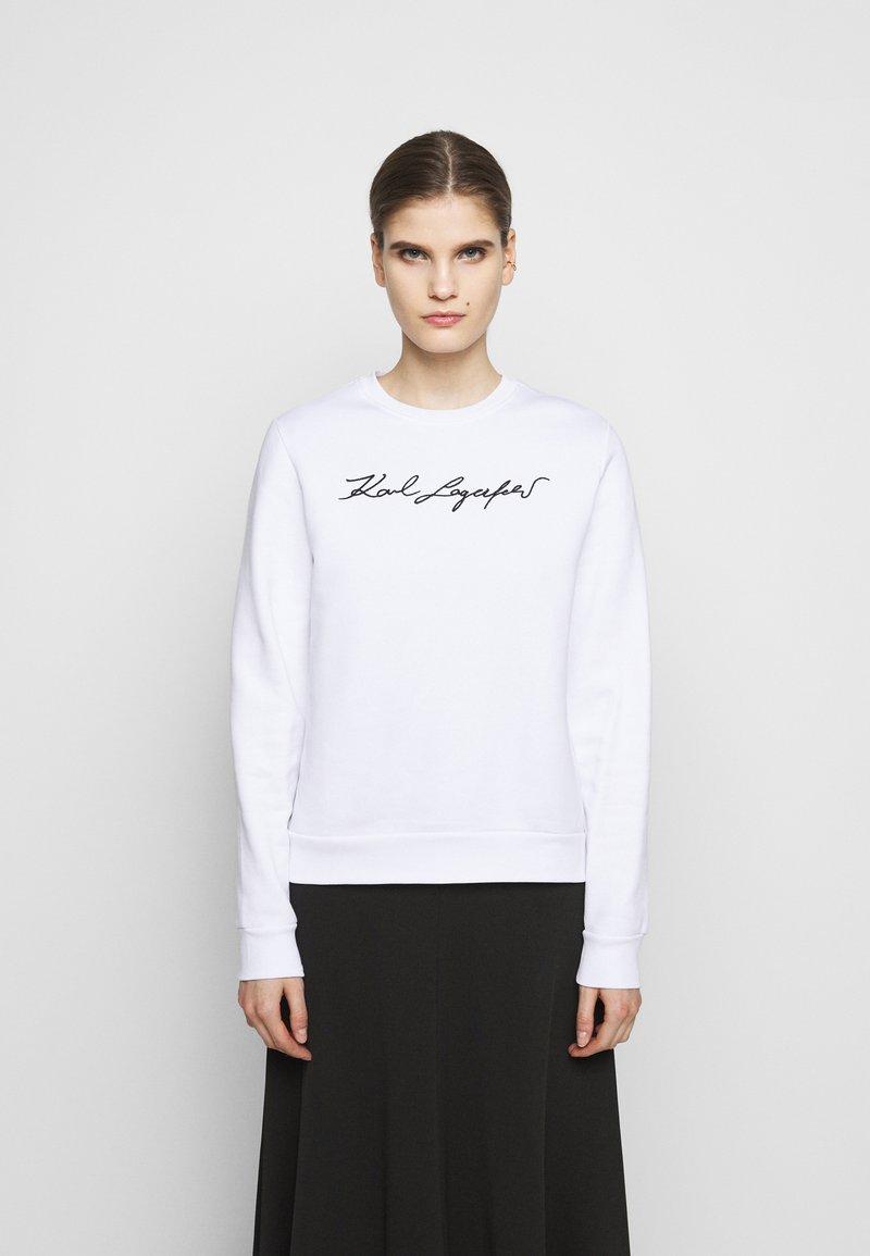 KARL LAGERFELD - SIGNATURE - Sweatshirt - white